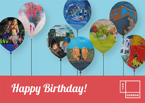 Artcosmos Gift Card - Happy Birthday blue