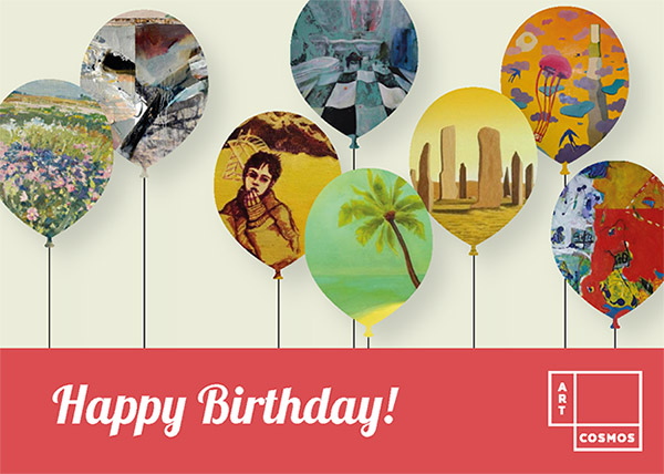 Artcosmos Gift Card - Happy Birthday green