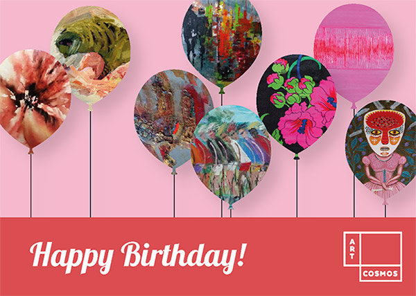 Artcosmos Gift Card - Happy Birthday pink